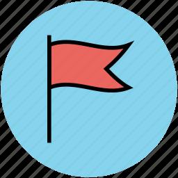 banner flag, ensign, flag, location flag, pennant icon