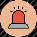 ambulance light, emergency light, red light, siren, siren alarm icon