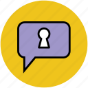 chat bubble, confidential, discuss, safe dialogue, speech box, speech bubble, talk icon