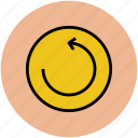 anticlock arrow, arrow, arrow circle, refresh, reload icon