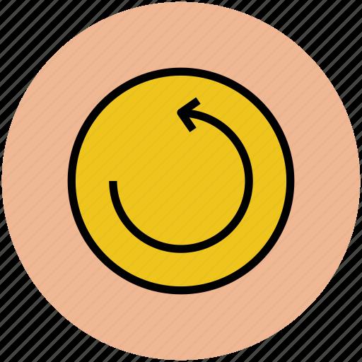 anticlock arrow, arrow, arrow circle, refresh, reload icon