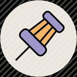 map pin, noticeboard pin, office supplies, pin, push pin, school supplies, thumbtack icon