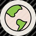 earth, globe, map, planet, world, worldwide icon