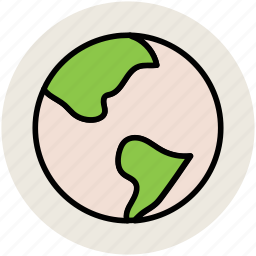 earth, globe, map, planet, world, worldwide icon