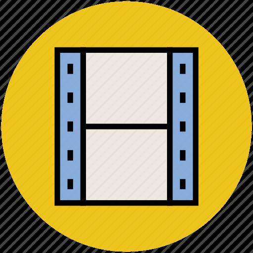 camera reel, cinema, film strip, movie reel, photography icon