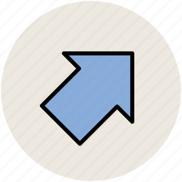 arrow, direction, directional arrow, pointing, up left icon