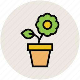 greenery, nature, plant, plant pot, potted plant icon