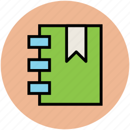 book, bookmark, daybook, diary, notebook, notepad icon