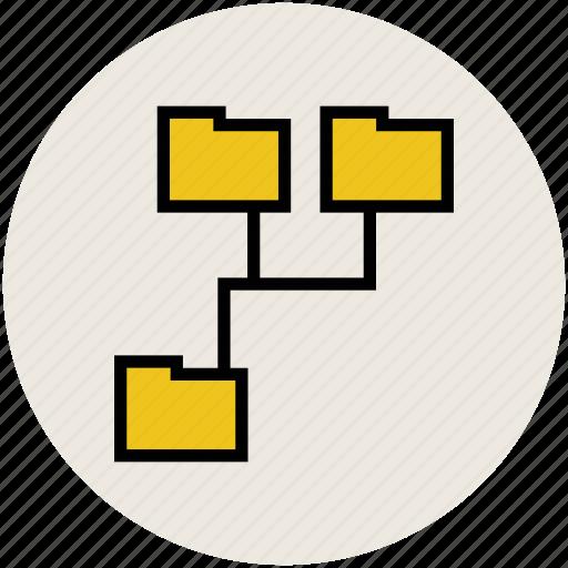 data network, folder, folder network, folder sharing, hierarchy, online data, server icon