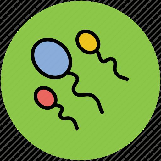 genes, germs, reproduction, semen, spermatozoa, sperms icon