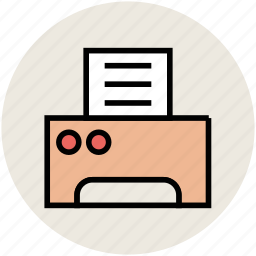 facsimile, fax, fax machine, printer, printing machine icon