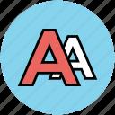 alphabet, font, font size, font style, letter a, text icon