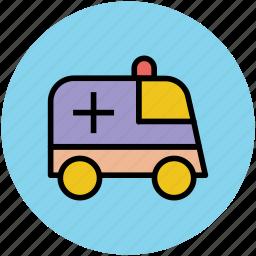 ambulance, medical emergency, medical rescue, medical transport icon