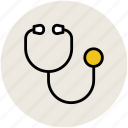 doctor, doctor stethoscope, medical instrument, stethoscope icon