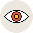 eye, human eye, view, visibility, visible icon