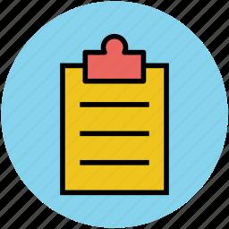 checklist, clipboard, list, note, record, schedule, sheet icon