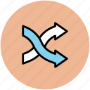 arrow mix, arrow shuffle, arrowhead, randomize sign, shuffling icon