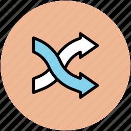 arrow mix, arrow shuffle, arrowhead, randomize sign, shuffling icon