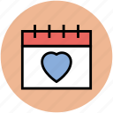 calendar, date, event, fourteenth february, valentine day, wedding day icon