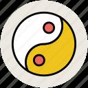 chinese symbol, harmony, spa, taoism, yang, yin, yin yang sign icon