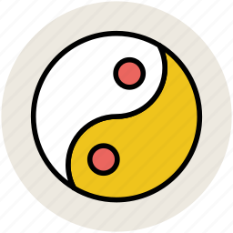 chinese symbol, harmony, spa, taoism, yang, yin, yin yang sign icon