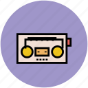 boombox, cassette player, music player, retro radio, stereo icon