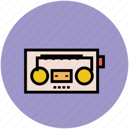 boombox, cassette player, music player, retro radio, stereo icon