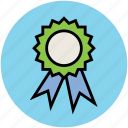 achievement, award badge, badge, emblem, ribbon badge, seal icon