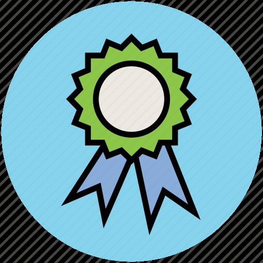 achievement, award badge, badge, emblem, ribbon badge, seal icon
