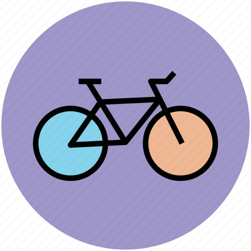 bicycle, bike, cycle, pedal cycle, transport, travel icon