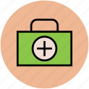 first aid, first aid kit, medical bag, medical box, medicine box icon