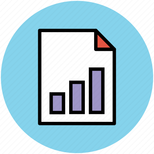 business report, chart, graphic report, graphical document, statistics icon