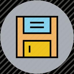 disk, diskette, floppy, floppy drive, storage device icon