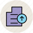 file, file uploading, up arrow, upload, upload file icon