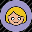 avatar, child, daughter, face, girl, schoolgirl, student icon