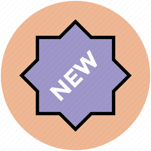 brand, label, new, sale, sticker, tag icon