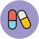 capsules, drugs, healthcare, medication, medicine icon