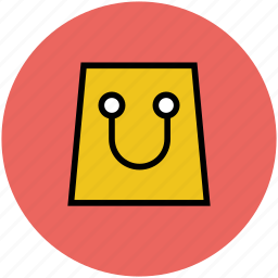 bag, paper bag, shop, shopping, shopping bag icon