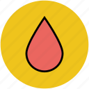 bleed, blood, blood drop, drop, fall, liquid icon