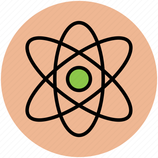 atom, atom sign, atomic symbol, molecular, nuclear, science icon