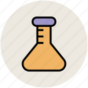 beaker, conical flask, flask, lab equipment, lab glassware, laboratory instrument icon