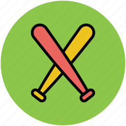 baseball accessories, baseball bat, cross bats, sports, sports equipment icon