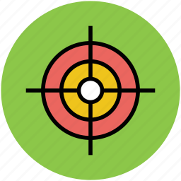 aiming, crosshair, dart board, game, shooting, target icon
