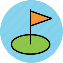 flag, golf, golf club, golf course, golfing icon