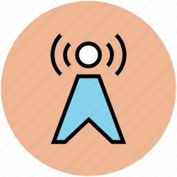 antenna, broadcasting, communication tower, network, signal tower, tower, wireless antenna icon