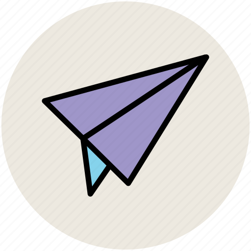 flight, mail sign, origami paper plane, paper jet, paper plane icon