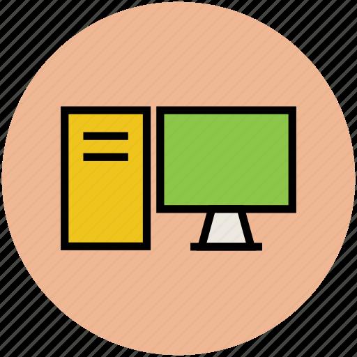 computer, desktop pc, micro computer, pc, personal computer icon