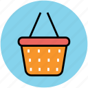 e commerce, hamper, online shopping, online store, shopping basket icon