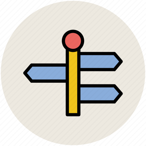 direction post, directional arrows, guideposts, signposts, street sign icon