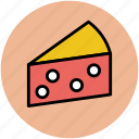 cheese, cheese piece, dairy food, dairy product, food icon